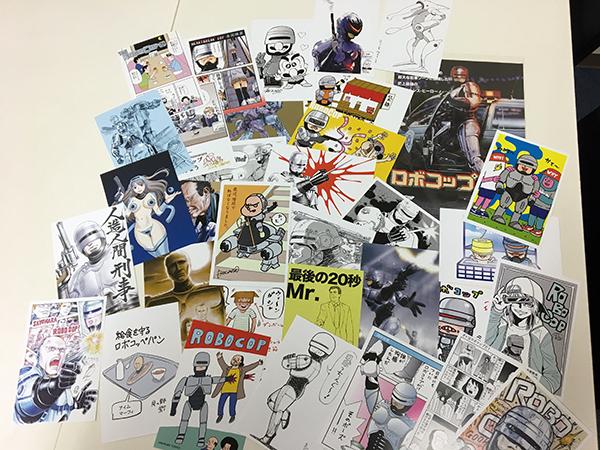 『ロボコップ』コンベンション:ファンの執筆陣によるトリビュートイラストのポストカード