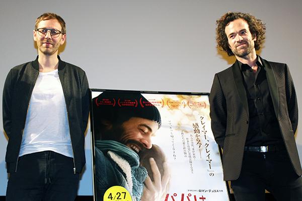 映画『パパは奮闘中!』来日トークイベント:ロマン・デュリス、ギヨーム・セネズ監督