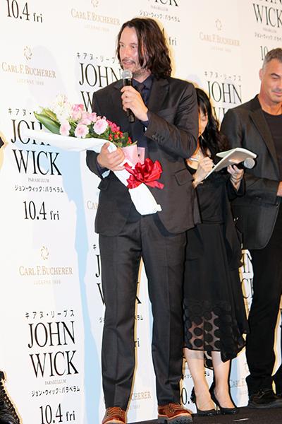 映画『ジョン・ウィック:パラベラム!』来日ジャパンプレミア:キアヌ・リーブス