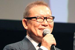 映画『パンク侍、斬られて候』完成披露舞台挨拶、國村隼
