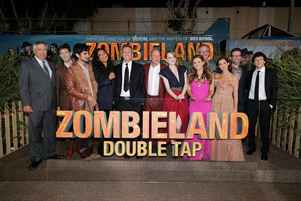 映画『ゾンビランド:ダブルタップ』ワールドプレミア、ウディ・ハレルソン、ジェシー・アイゼンバーグ、アビゲイル・ブレスリン、エマ・ストーン
