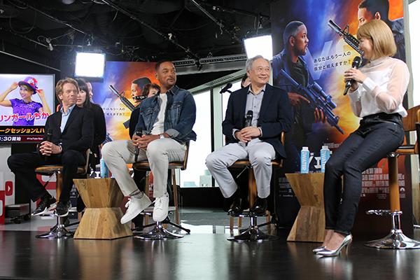 映画『ジェミニマン』公開記念来日トークセッション:ウィル・スミス、アン・リー監督、ジェリー・ブラッカイマー(製作)/バイリンガールちか(YouTubeクリエイター代表ゲスト)