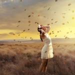 秋の女神イメージ写真AC