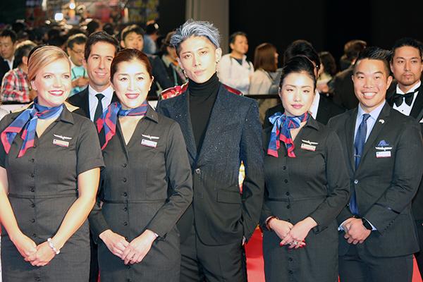東京国際映画祭2019オープニングイベント:アメリカン航空/ブランド・アンバサダーのMIYAVI