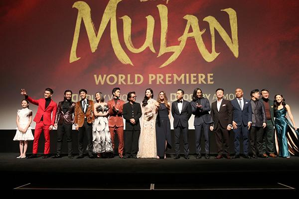 映画『ムーラン』ワールドプレミア、リウ・イーフェイ、ニキ・カーロ監督、ジェット・リー、ドニー・イェン