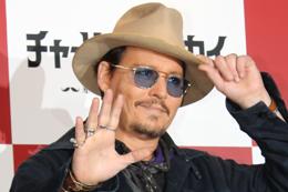 映画『チャーリー・モルデカイ 華麗なる名画の秘密』来日記者会見、ジョニー・デップ