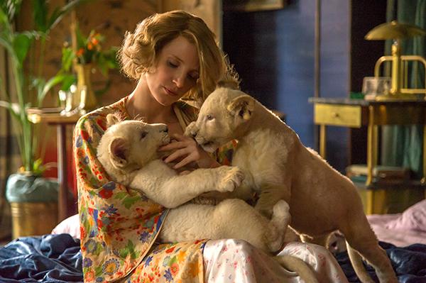 映画『ユダヤ人を救った動物園 アントニーナが愛した命』ジェシカ・チャステイン