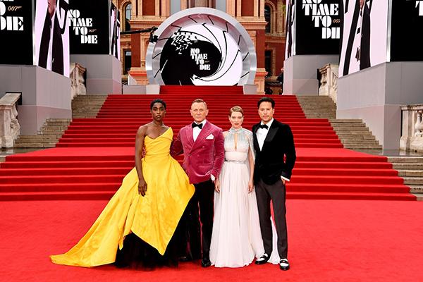 映画『007/ノー・タイム・トゥ・ダイ』ワールドプレミア、ダニエル・クレイグ、レア・セドゥ、ラシャーナ・リンチ、キャリー・フクナガ監督